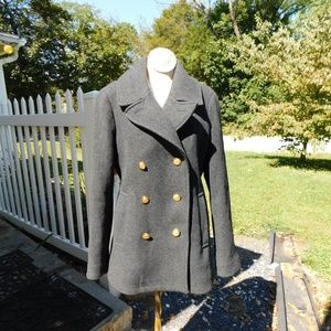 J Crew Stadium Cloth Nello Gori Pea Coat sz 8